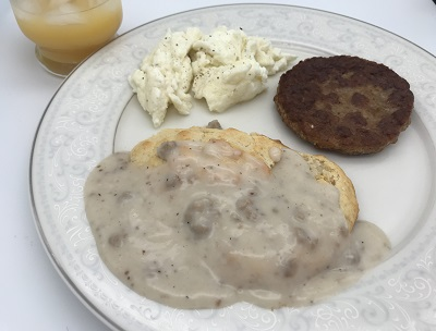 Biscuits & Gravy with Sausage & Eggs